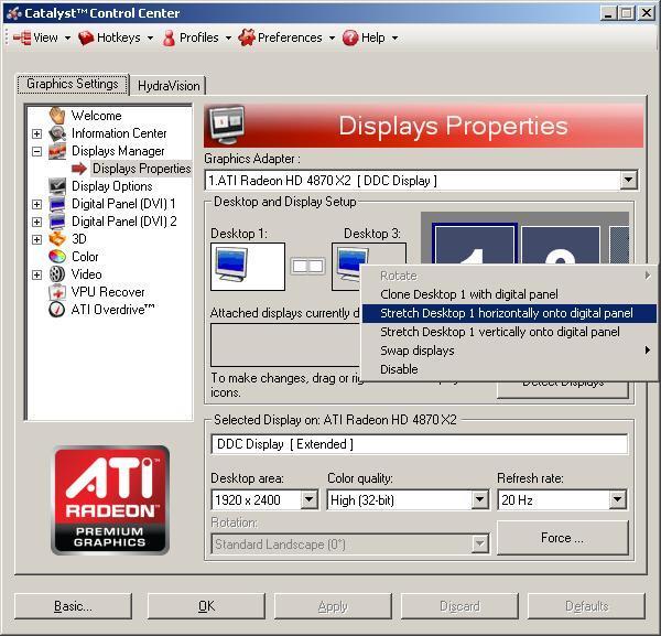 CCC Desktop Stretch Option