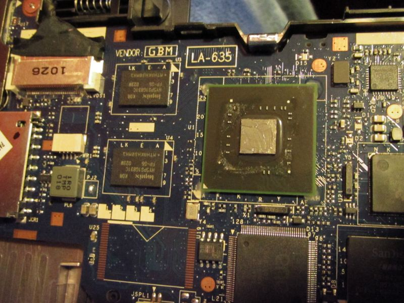 Tegra2 CPU Core in Toshiba AC100 with thermal compound applied