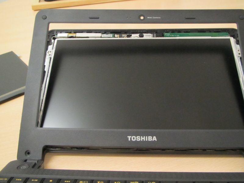 Bezel on the Toshiba AC100 opened up