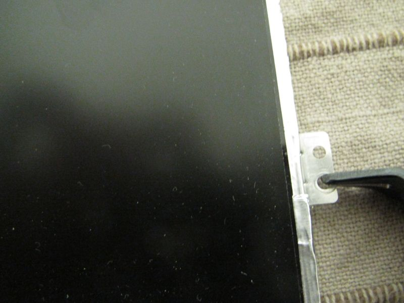 Modifying the mounting points on the replacement screen panel